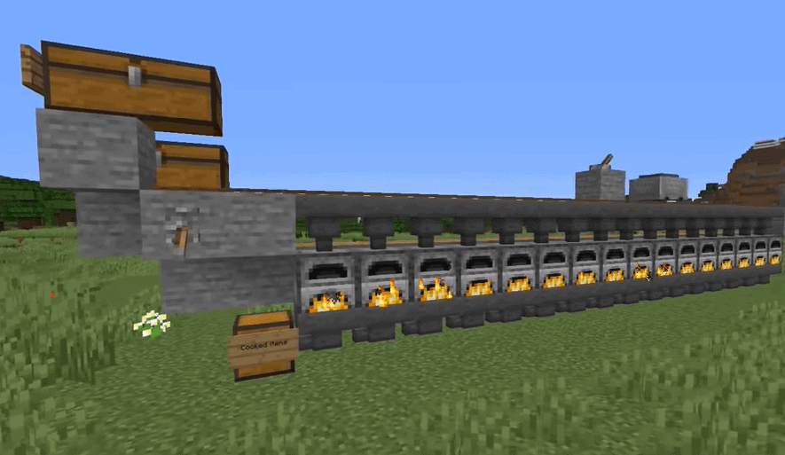 The Industrial Furnace Recipe in Vanilla Minecraft